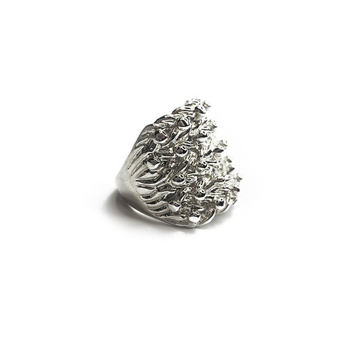 Sterling Silver 925 Statement Chunky Keeper Ring
