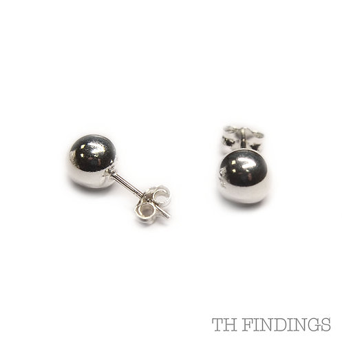 Sterling Silver 925 7mm Ball Earstuds