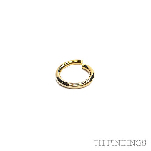14mm Base Metal Jump Ring in Plated Finish