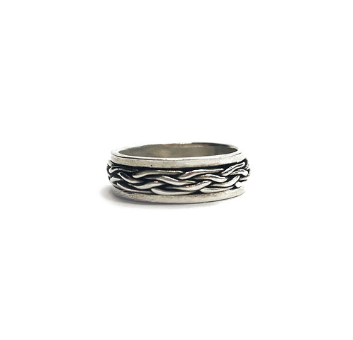 Sterling Silver 925 Antique Finish Celtic Spinner Ring