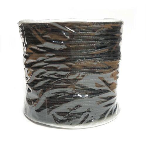 2mm Wax Cord Black 100m Spool
