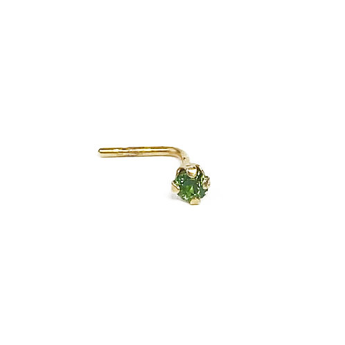 9ct Gold Peridot Nose Stud