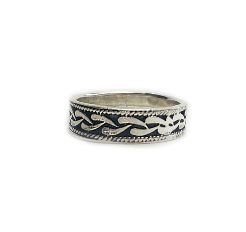 Sterling Silver 925 Antique Finish Celtic Ring