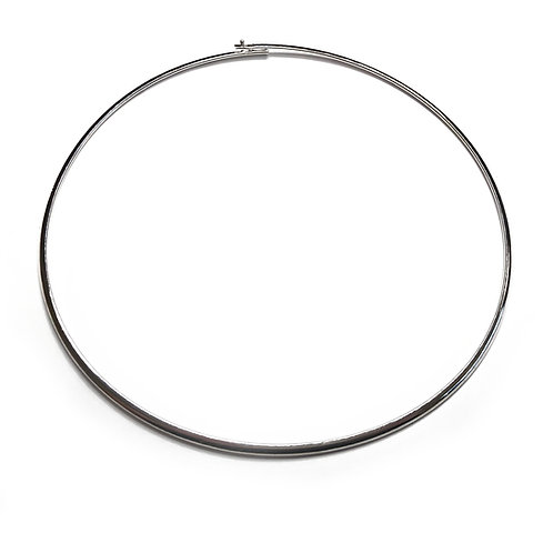 Silver Plated Neckring 3mm Torque