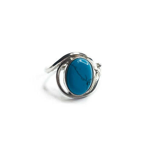 Sterling Silver 925 Turquoise Statement Ring