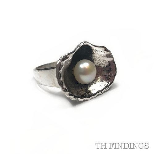 Pearl Semi Precious Sterling Silver Ring
