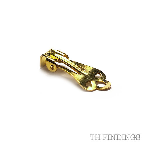Large Earclip & Box Brass Earring Finding