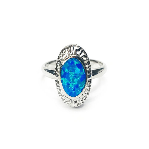 Synthetic Opal Oval Ring