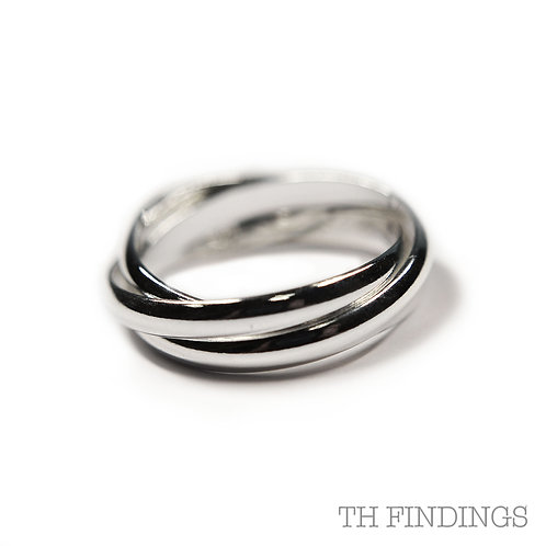 Sterling Silver 925 Trinity Ring