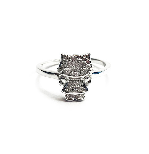 Sterling Silver 925 Hello Kitty Ring