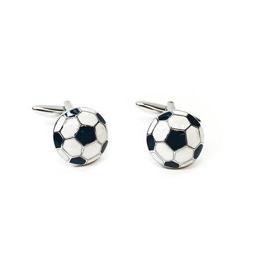 Boxed Silver Plated Football Cufflinks