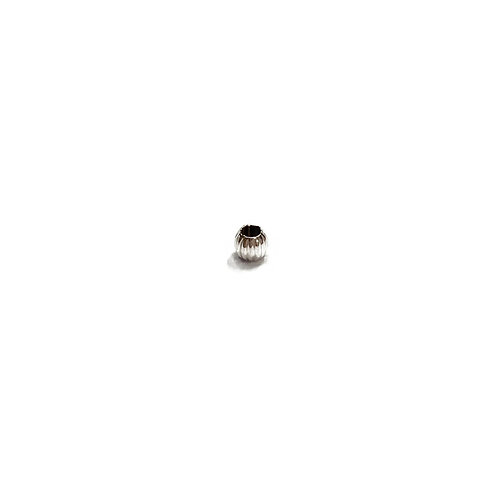 Sterling Silver 925 3mm Round Fluted Through Hole Bead