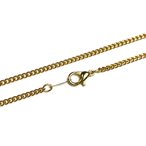 Gold Plated Curb Chain in Various Lengths