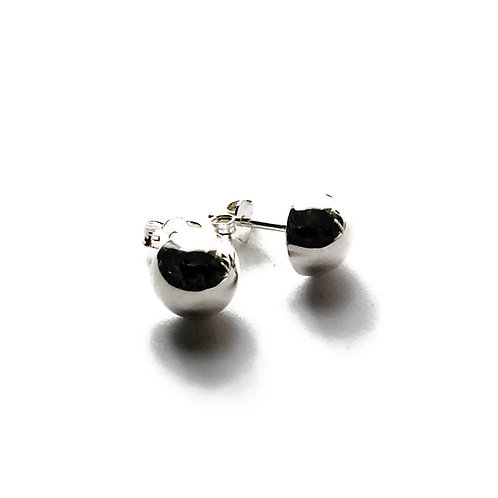 Sterling Silver Half Ball Studs in Various Sizes