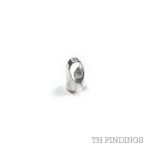 Sterling Silver Stamped 2mm End Cap