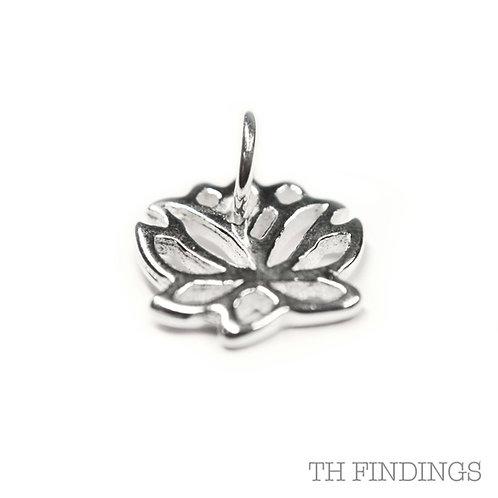 Sterling Silver 925 Lotus Flower Charm