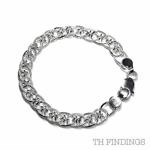 "Sterling Silver 925 7.5"" Bracelet"