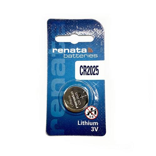10 x Renata CR2025 Lithium Watch 3V Batteries Swiss Made