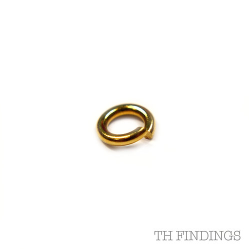 9ct Gold 5mm Open Jump Ring 0.9mm Wire