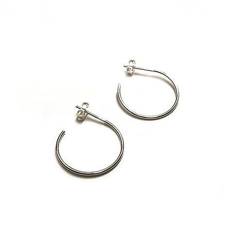 Sterling Silver 925 20mm Hoop Earrings
