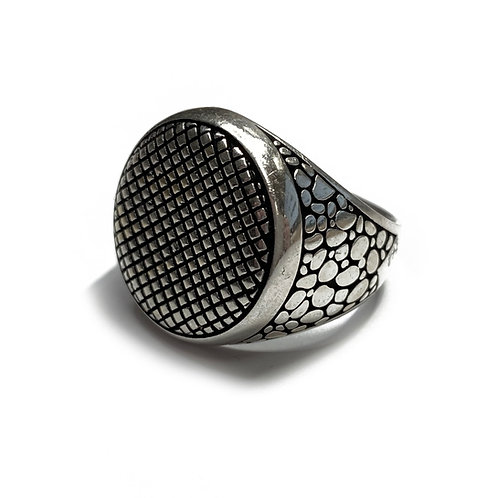 Sterling Silver 925 Antique Finish Statement Signet Ring