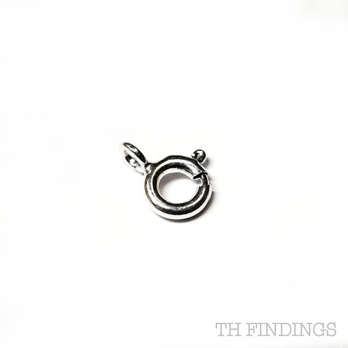 6mm Sterling Silver Bolt Ring Clasp