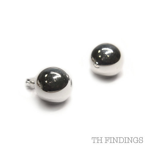 Sterling Silver 925 14mm Ball Earstuds