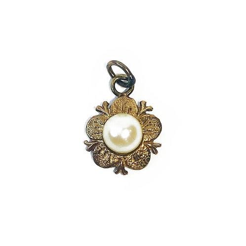 9ct Antique Gold Pearl Pendant