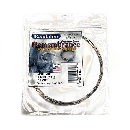 Beadalon Necklace Memory Wire 0.25 Oz