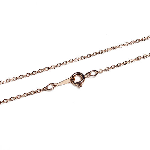 "18"" Rose Gold Plated Trace Chain"