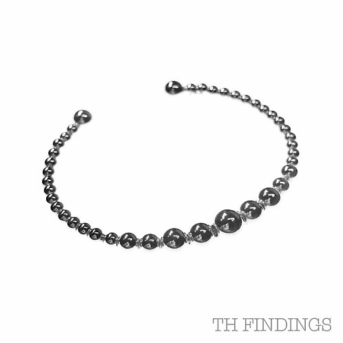 Sterling Silver 925 Ball Bangle