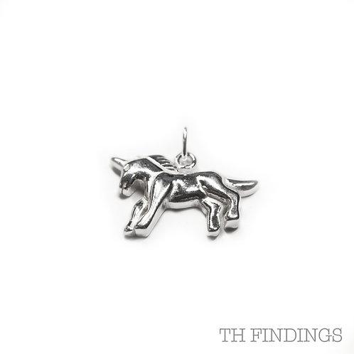 Sterling Silver 925 Unicorn Pendant