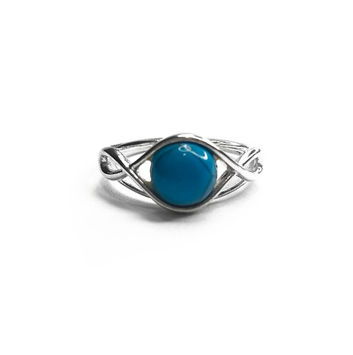 Sterling Silver 925 Turquoise Knot Ring