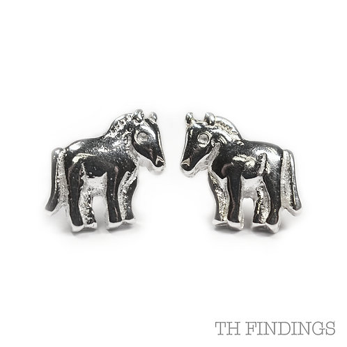Sterling Silver 925 Equestrian Horse Earstuds