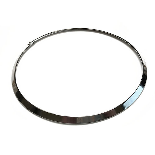Silver Plated Neckring 6mm Torque