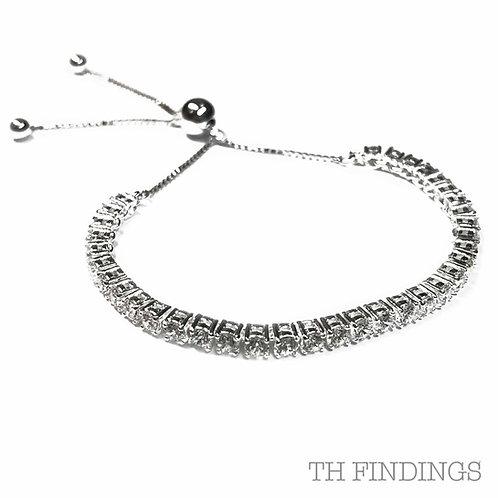 Sterling Silver 925 CZ Tennis Bracelet
