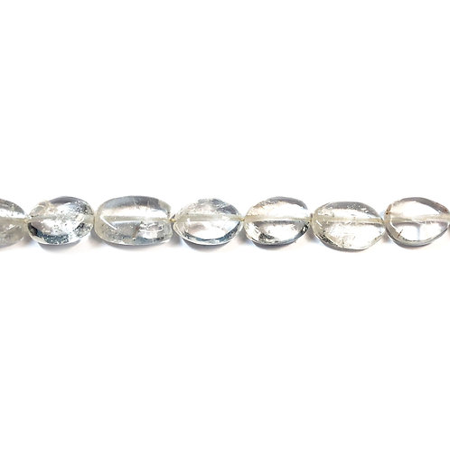 10x6mm Oval Crystal Quartz Semi Precious Bead Strand