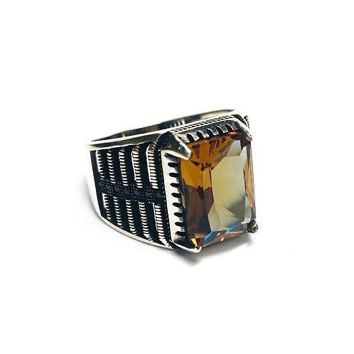 Sterling Silver 925 Topaz CZ Ring