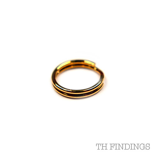 9ct Gold 7mm Split Ring