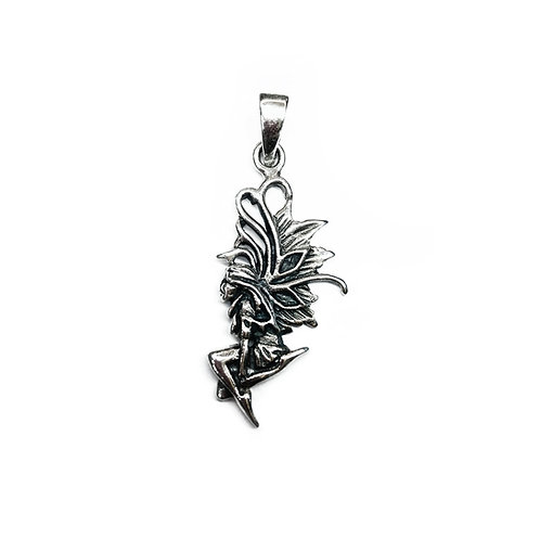 Sterling Silver 925 Fairy  Pendant