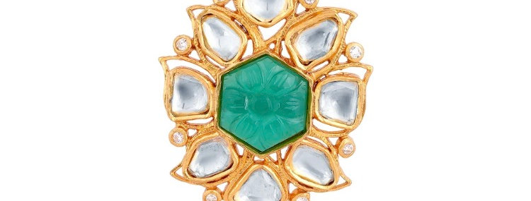 Azariah Kundan Ring