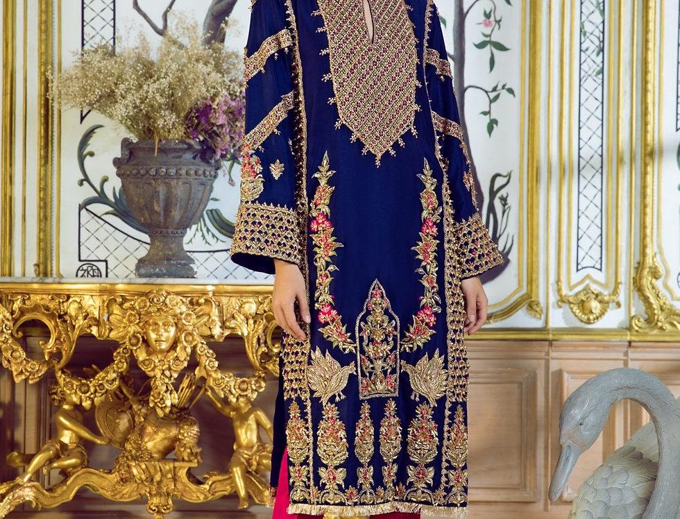 Royal Blue Shirt - Erum Khan
