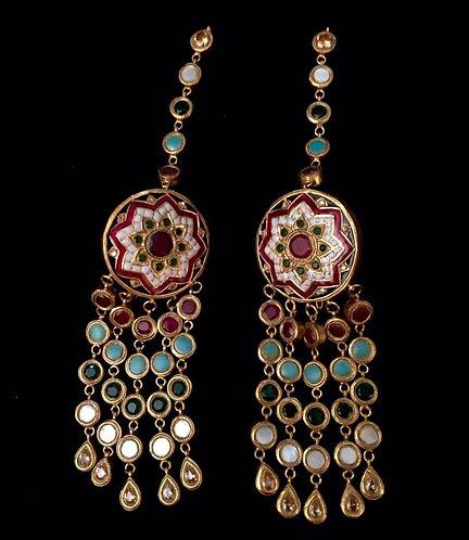 Meena Kaari Earings - Moons Couture