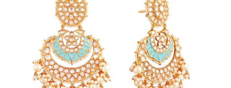 Danna Kundan & Meena Earings