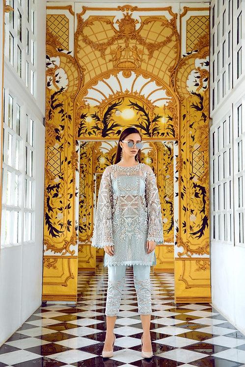 Shimmers Stripe Shirt - Erum Khan