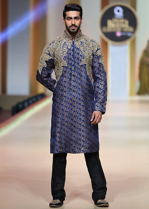 Royal Blue Kurta - HSY