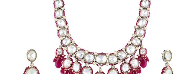 Kate Long Kundan Necklace