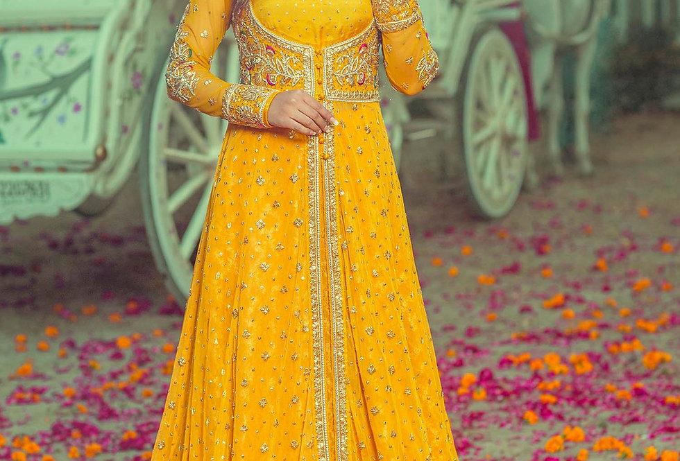 Yellow Mehndi Mayun Dress