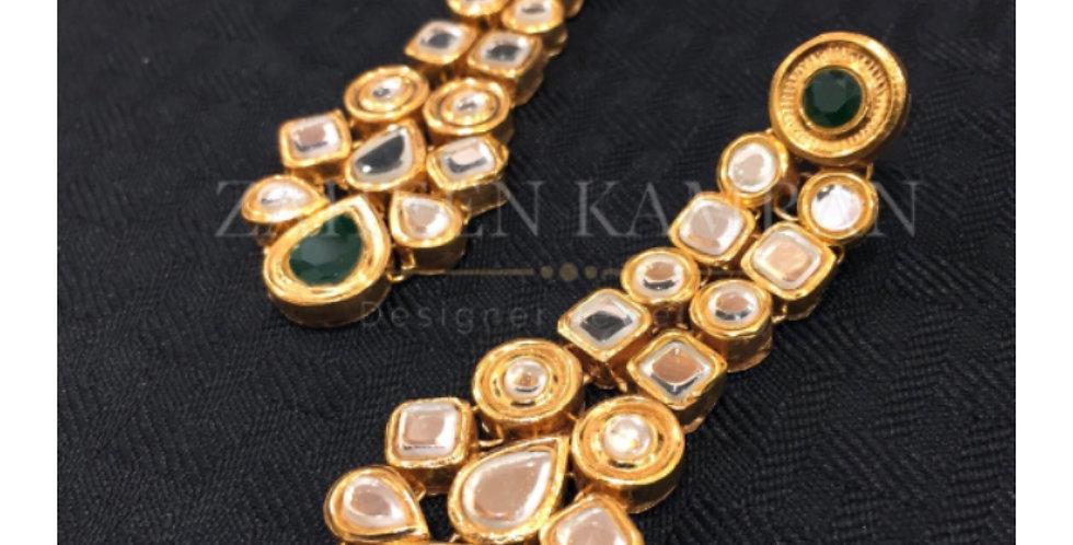 Emerald Kundan Wear