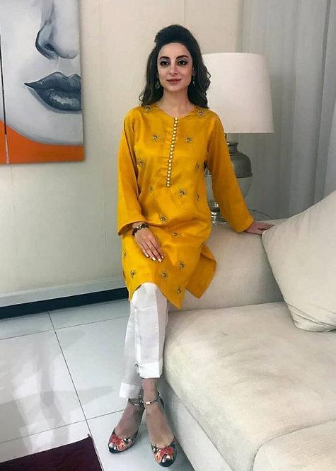 Sheen Gold Kurta - Sadaf Fawad Khan